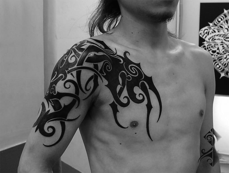 タトゥー 名古屋 トライバル タトゥー OLYMPUS DIGITAL CAMERA
